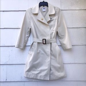 Lacoste Beige Button Up Trench Sz 38